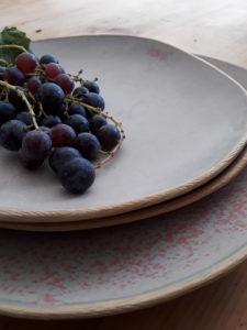 Assiettes gres gris